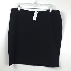 NWT New York & Company Black Skirt 16P